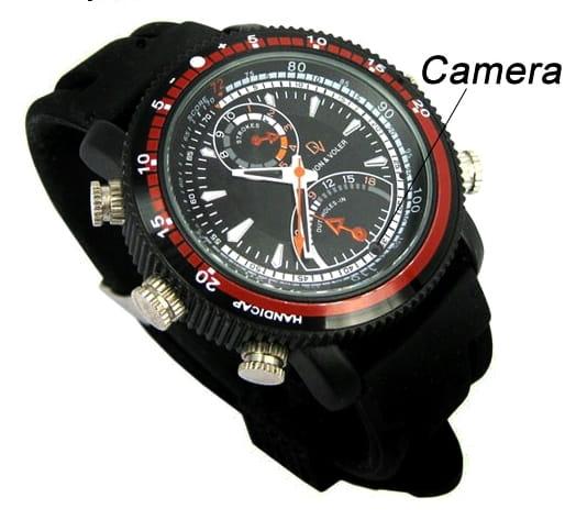 Skrytá kamera s mikrofonem v pánských hodinkách a33108f3463