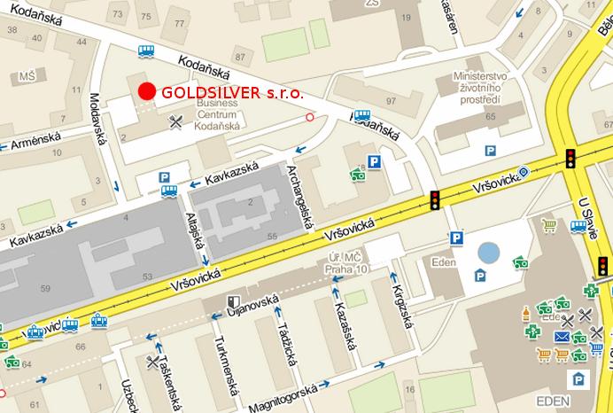 GOLDSILVER s.r.o. Kodaňská 1441/46, Praha 10 - Vršovice
